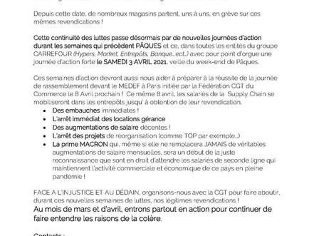 Communiqué de presse CGT carrefour groupe - Carrefour la lutte continue !