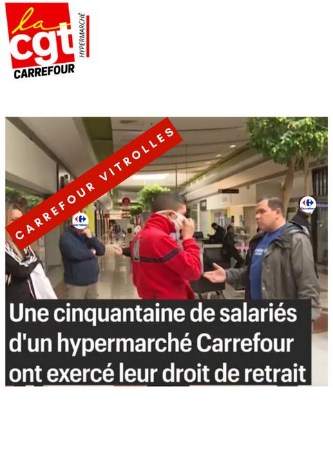 Coronavirus : 50 employés de Carrefour exercent leur droit de retrait à Vitrolles