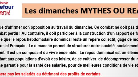 Les dimanches MYTHES OU RÉALITÉS ?