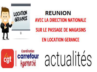 """Seconde réunion """"location gérance"""""""