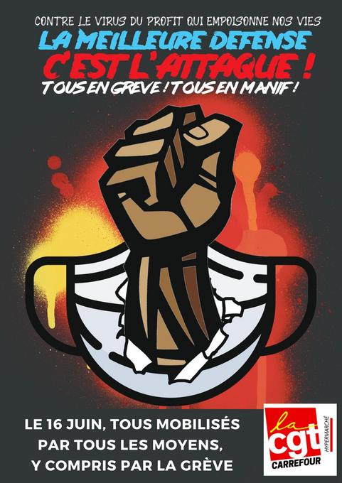 Le 16 juin 2020, Tous mobilisés par tous les moyens, y compris par la grève
