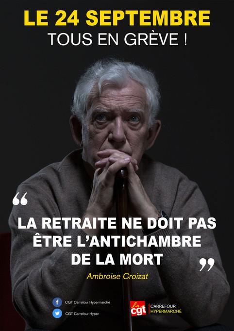 """""""La retraite ne doit pas être l'antichambre de la mort """" - Le 24 septembre 2019, TOUS"""