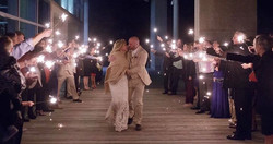 Every couple should end their celebration with a sparkler exit!  www.julieelliottphotography