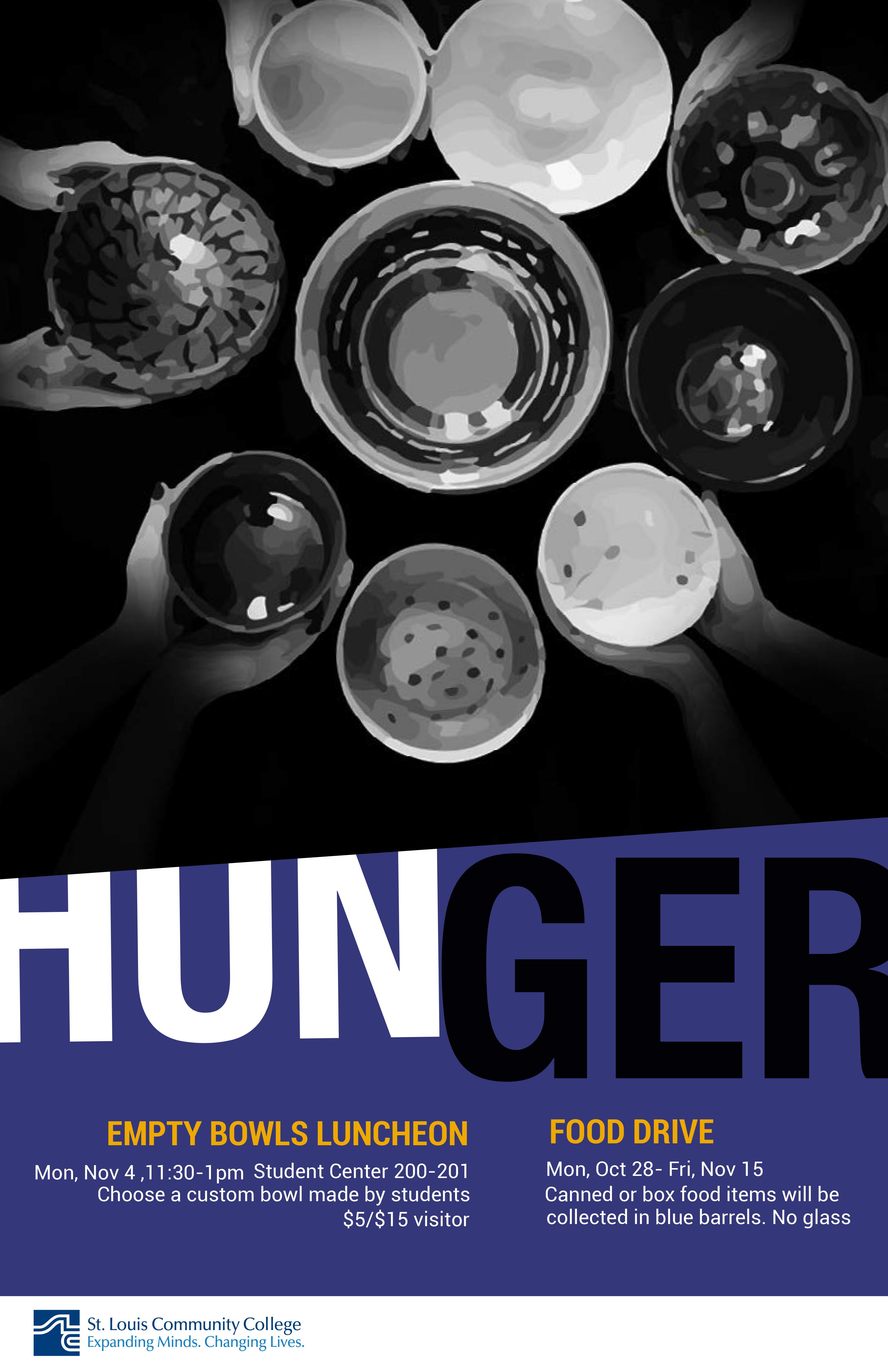 Final Hunger awareness poster purple