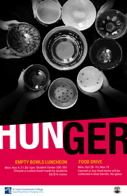 Final Hunger awareness poster red