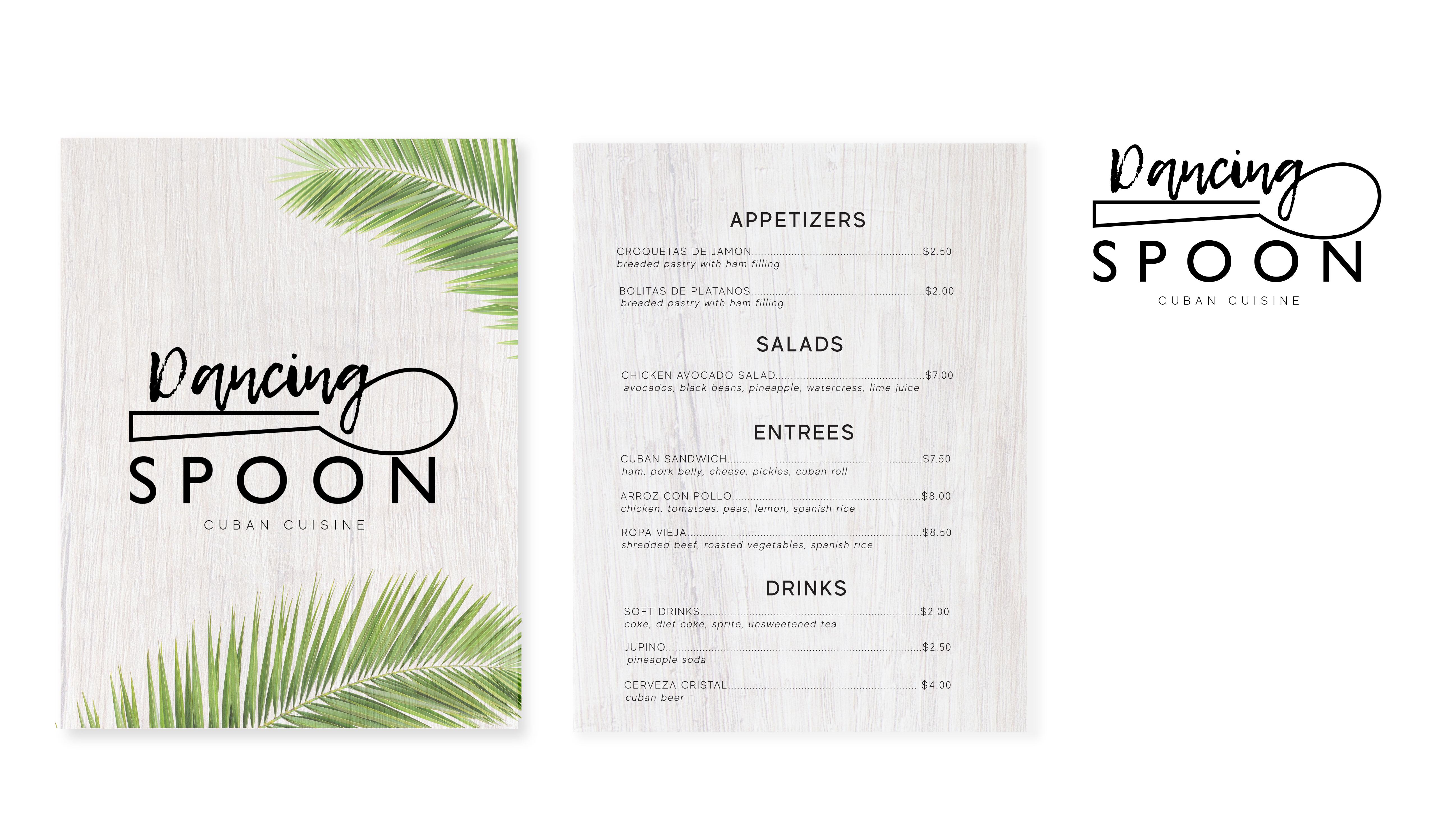 Dancing spoon menu UPDATE portfoliocente