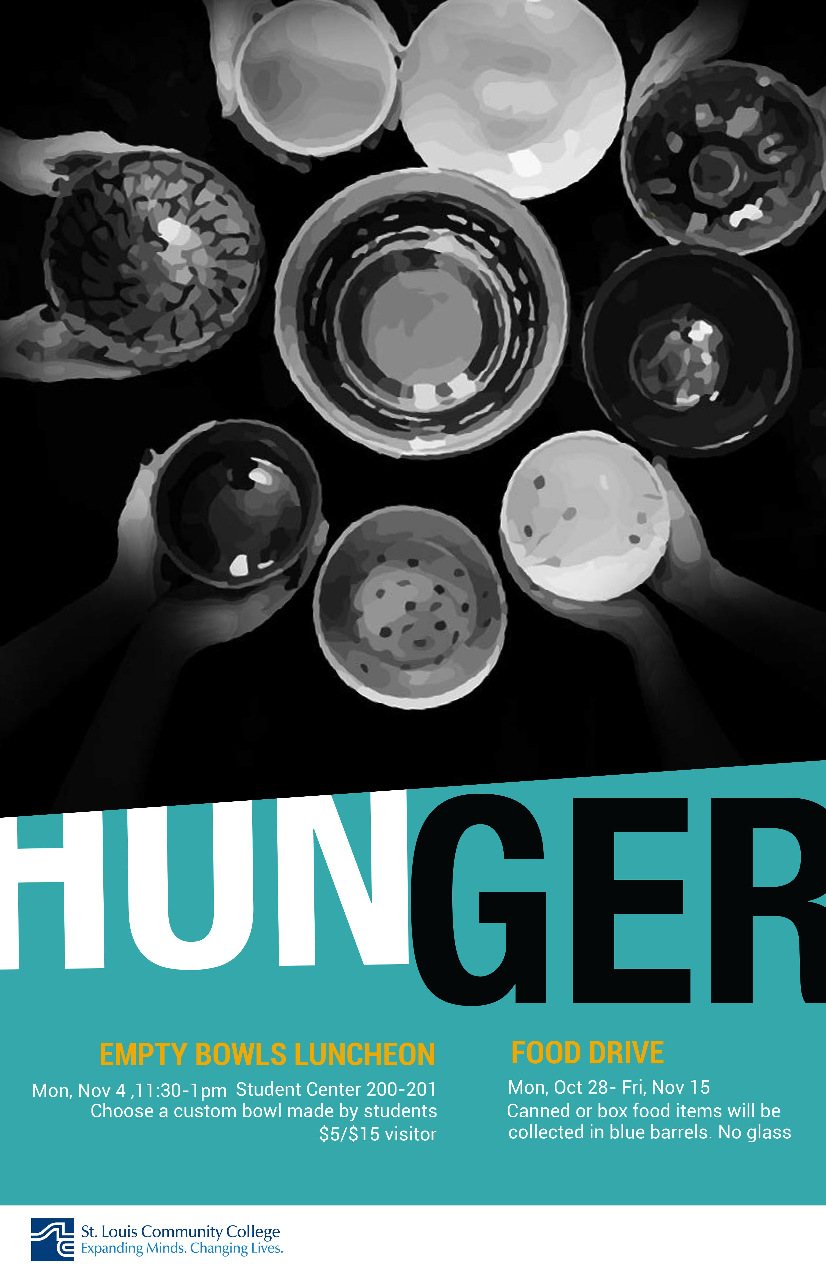 Final Hunger awareness poster green