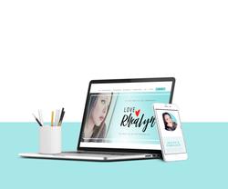 Final Love RheaLyn Website Mock-up