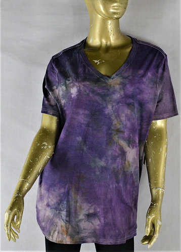 Cotton Blend V-Neck T-Shirt- Size Med/Large