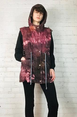 1XLarge(PLUS) Cotton Hooded Vest w/pockets