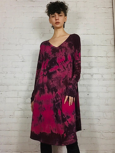 XLarge Long Sleeve V-Neck A-Line Dress w/pockets (fits 14-16)