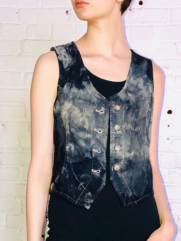 Small Vintage Corduroy Cropped Vest