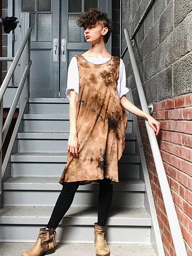 One Size (Fits 2-16) Cotton Drop Armhole Bubble Gauze Tank Dress