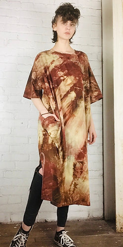Size 3 Oversized Cotton T-shirt Dress w/ pockets