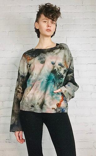 Small Deconstructed Sweatshirt w/ front pocket