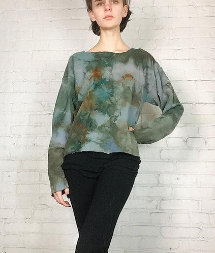 Small/Medium Deconstructed Sweatshirt