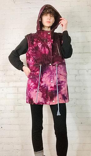 3XLARGE(PLUS) Cotton Hooded Utility Vest w/pockets