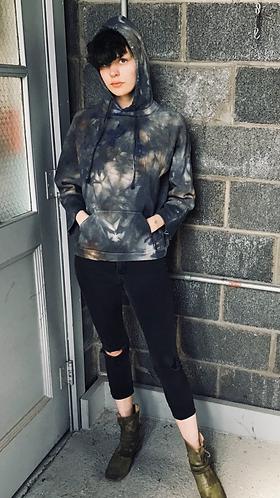 XSmall Deconstructed Hoodie Sweatshirt Free Shipping