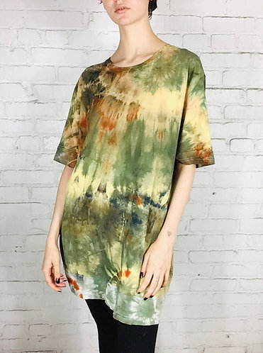 Large Layered Tunic Cotton T-Shirt