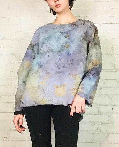 Medium -Large Deconstructed Sweatshirt Free Shipping