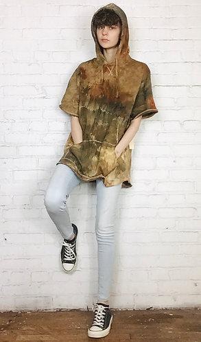 Large Lightweight Cotton Sweatshirt Short Sleeve Hoodie