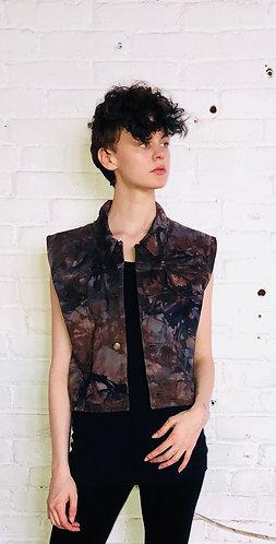 Medium Vintage Cropped Denim Vest
