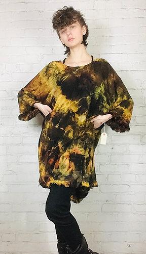XLarge Linen Ruffle Dress (fits 12-16)
