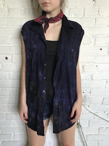 Plus 1X Unisex Cotton Sleeveless Camp Shirt