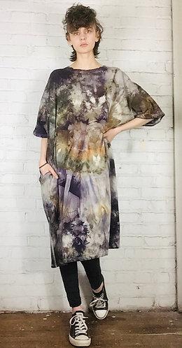 Size 2 Oversized Cotton T-shirt Dress w/ pockets