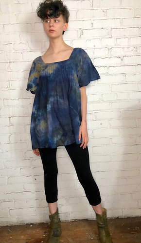 Large Lightweight Cotton Pleated Top