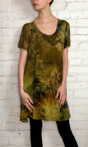 Plus Size 1X Short Sleeve V-Neck Dress
