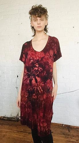 1XL V-Neck shortsleeved Dress