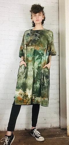 Size 1 Oversized Cotton T-Shirt Dress w/pockets