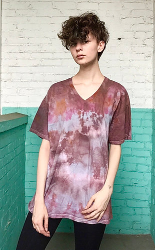 Large Cotton V-Neck T-Shirt