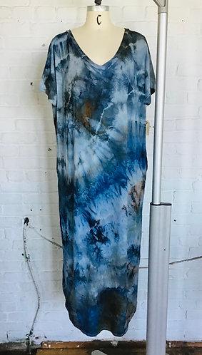Plus 2X Maxi Dress w/pockets