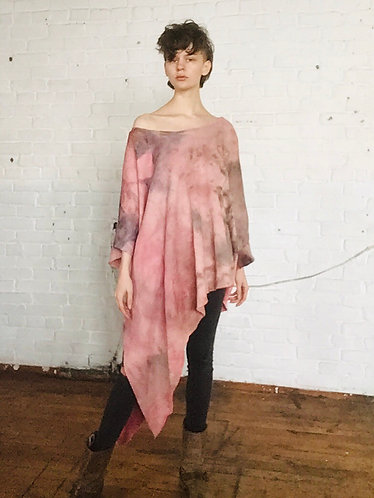 Cotton Oversized Asymmetrical Sweatshirt (Fits 4-PLUS)