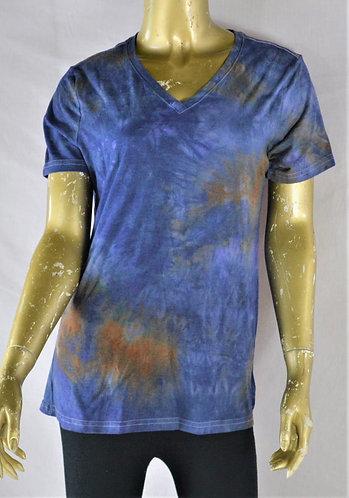 Cotton Blend V-Neck T-Shirt- Size Sm/Med