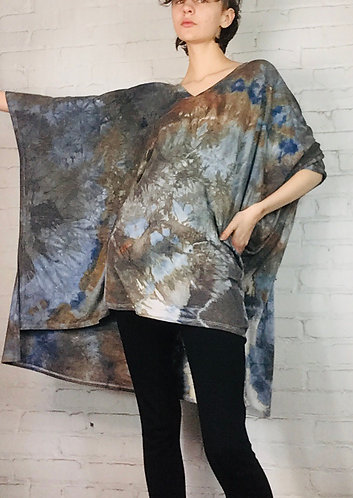Oversized V-Neck Shrug Poncho Fits Small -Plus 3X