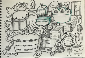 Boxes and Spoons Doodles