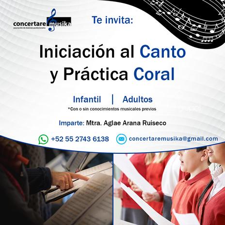 Iniciación al Canto y Práctica Coral
