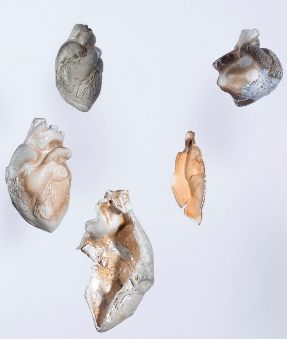 "Detail of Atria installation, porcelain, 6"" x 4"" x 4"", installation dimensions variable, 2019-20"