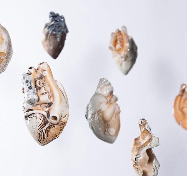 Detail of Atria installation, porcelain,
