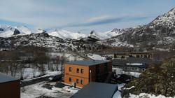 Dronefoto utsikt mot nord