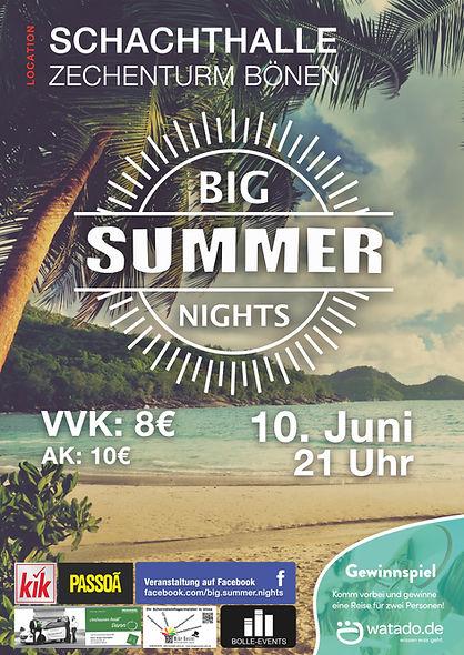 Big Summer Nights Plakat 2017