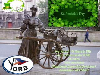 YCRB - Soiree de la St Patrick le Vendredi soir 15 mars