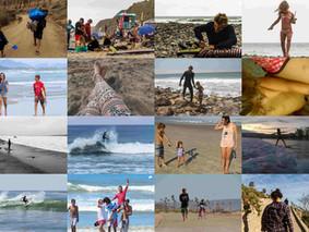 Mãe de surfista