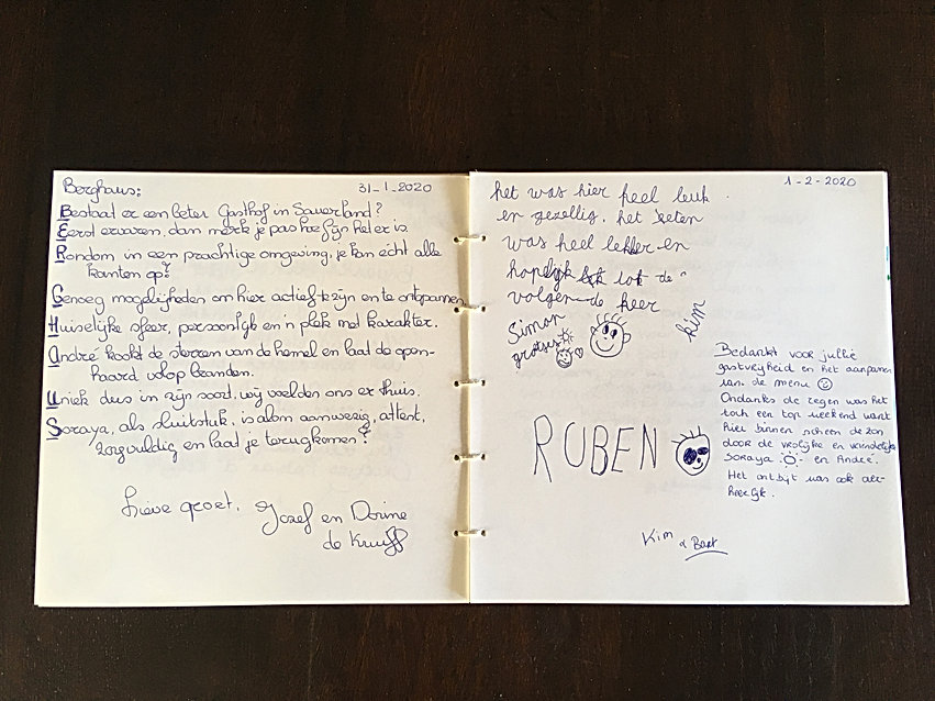 Gastenboek Review Recensie Gästebuch