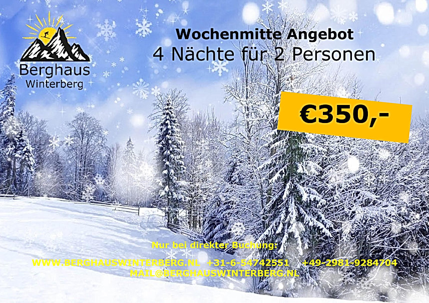 Wochenmitte Angebot Winter Aktion Skifah