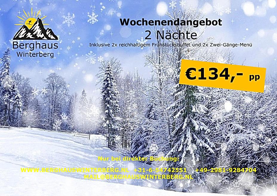 Wochenendangebot Winter Aktion Skifahren