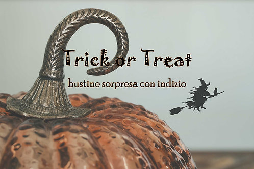 Trick or Treat - Bustine sorpresa con indizio
